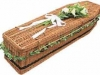 Traditional Shape Brown Willow Coffin