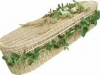Oval Shape Natural White Willow Coffin